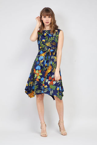 Wrap Front Fit & Flare Dress