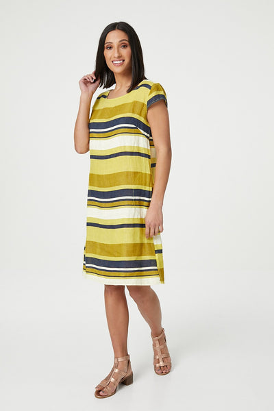 Striped Shift Dress - Izabel London