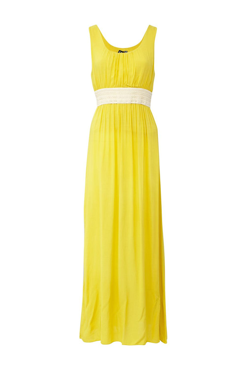 Yellow | Crochet Waist Maxi Dress