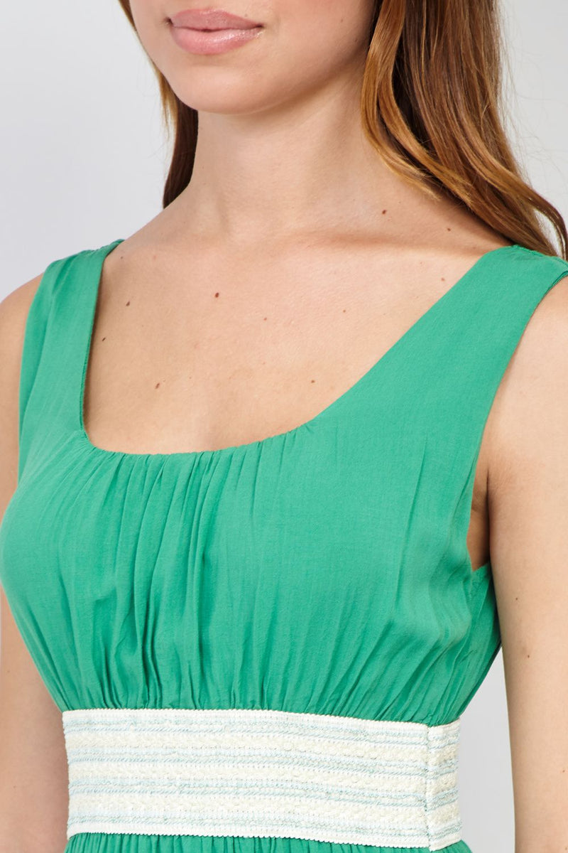 Green | Empire Waist Skater Dress