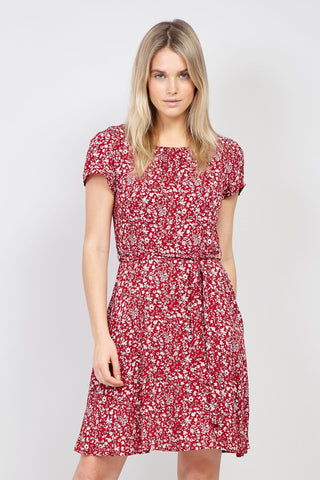Cut Out Neck Tea Dress