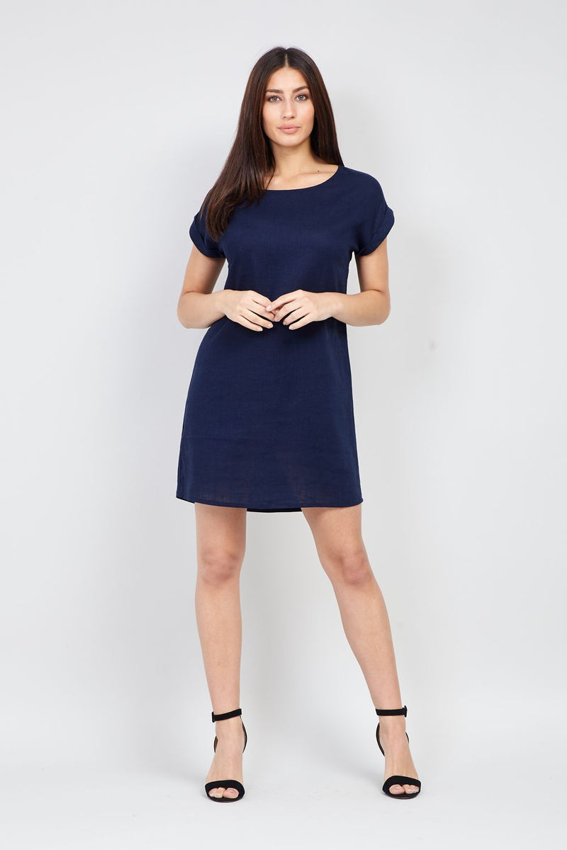 Navy | Relaxed Shift Dress