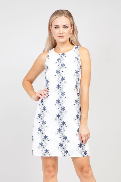 White | Floral Shift Dress