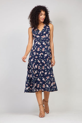 Eastern Print Lace Shift Dress