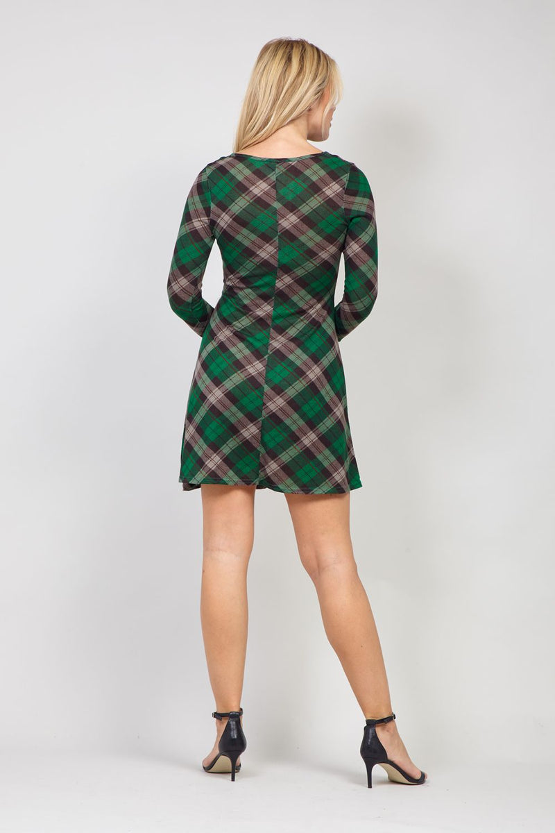 Green | Twist Front Knitted Dress