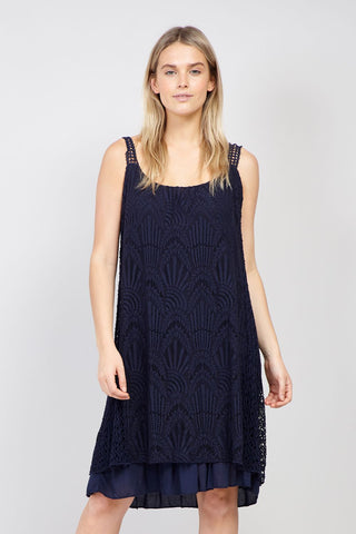 Curve Lace Overlay Tea Dress