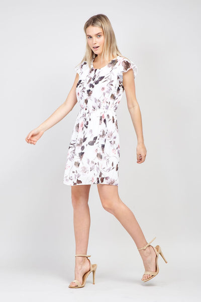 | Floral & Frill Tea Dress | Izabel London