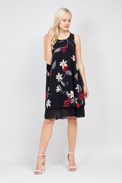 | Floral Layered Smock Dress | Izabel London