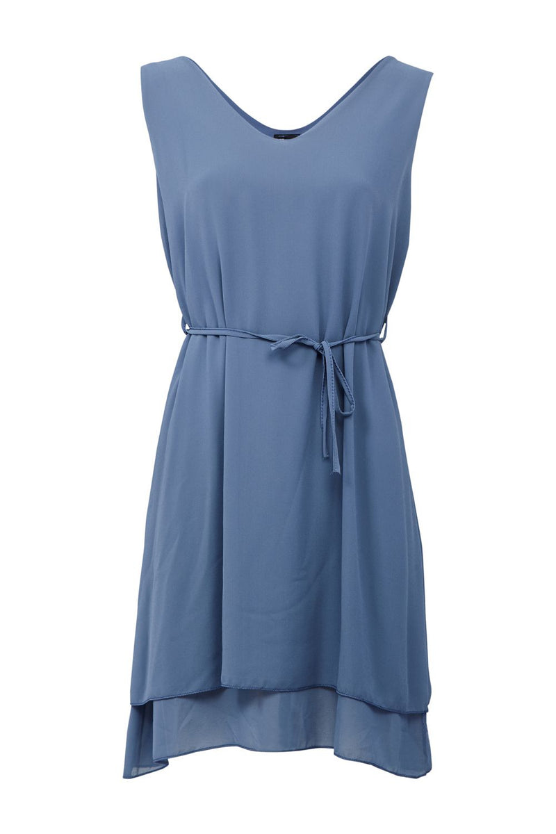 Blue | Tie Waist Tea Dress