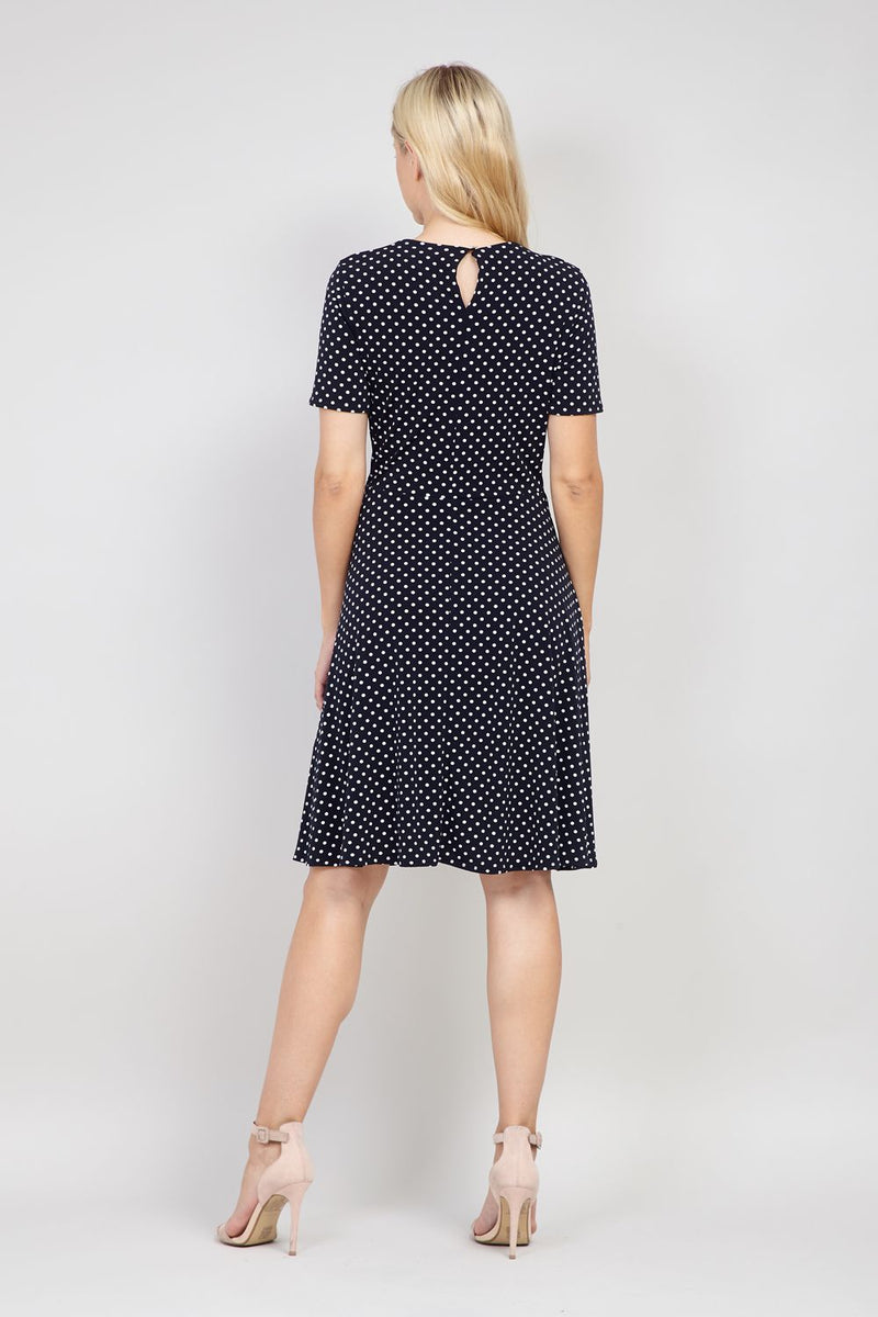 Black | Polka Dot Tie Waist Dress