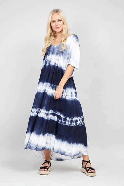 | Tie Dye Smock Dress | Izabel London