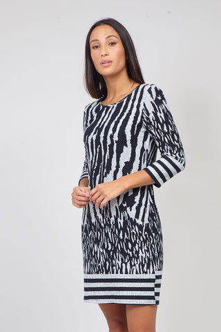 Mosaic Layered Smock Dress