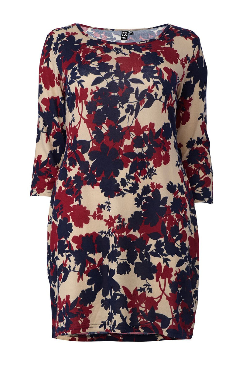 Navy | Curve Floral Knitted Bodycon Dress