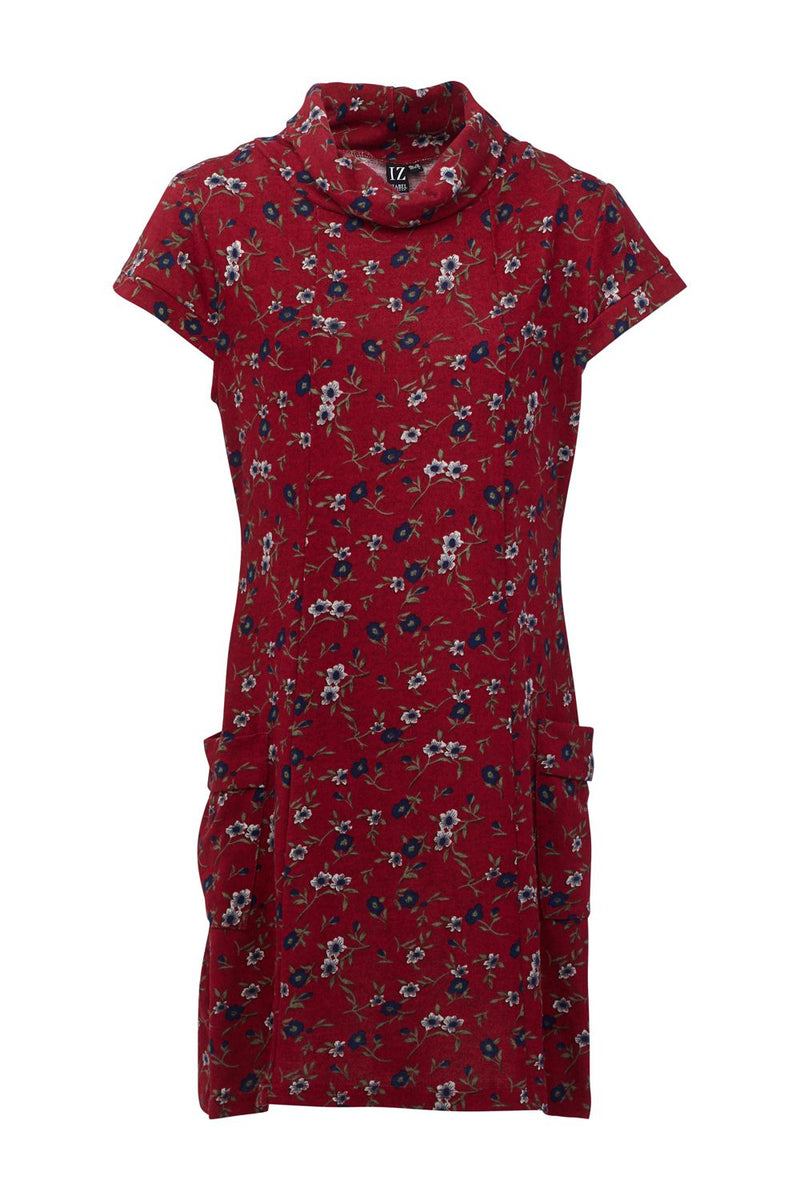 Red | Button Front Tunic Dress