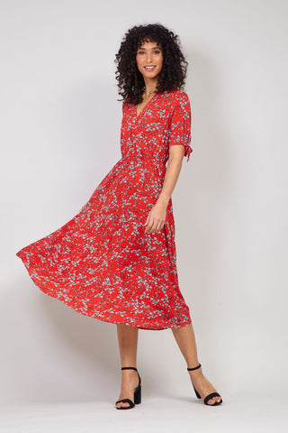 Ditsy Floral Front Split Dress