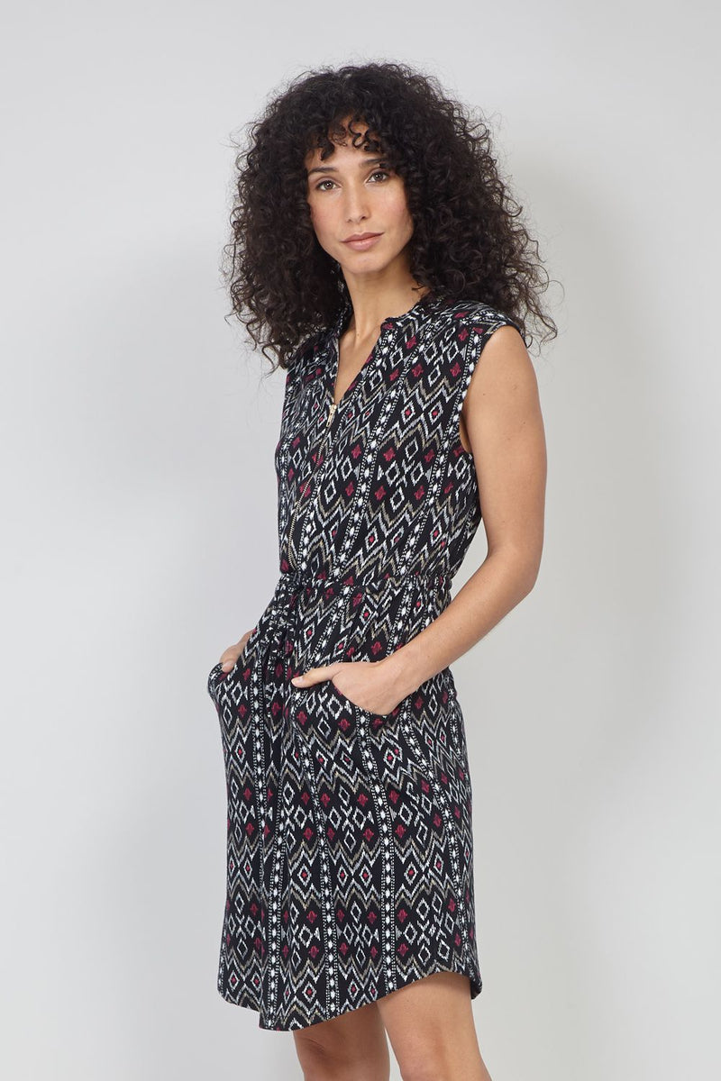 Grey | Tribal Print Shirt Dress