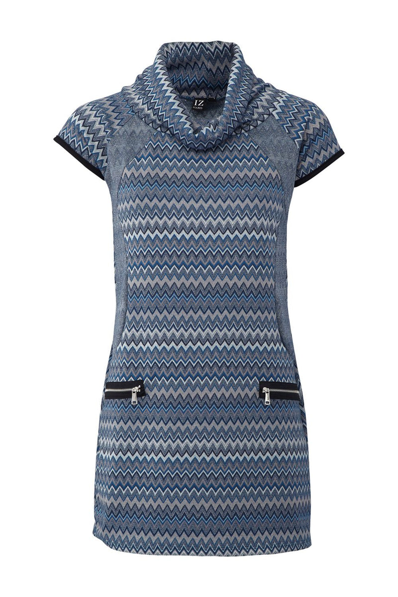 Blue | Aztec Knitted Tunic Dress