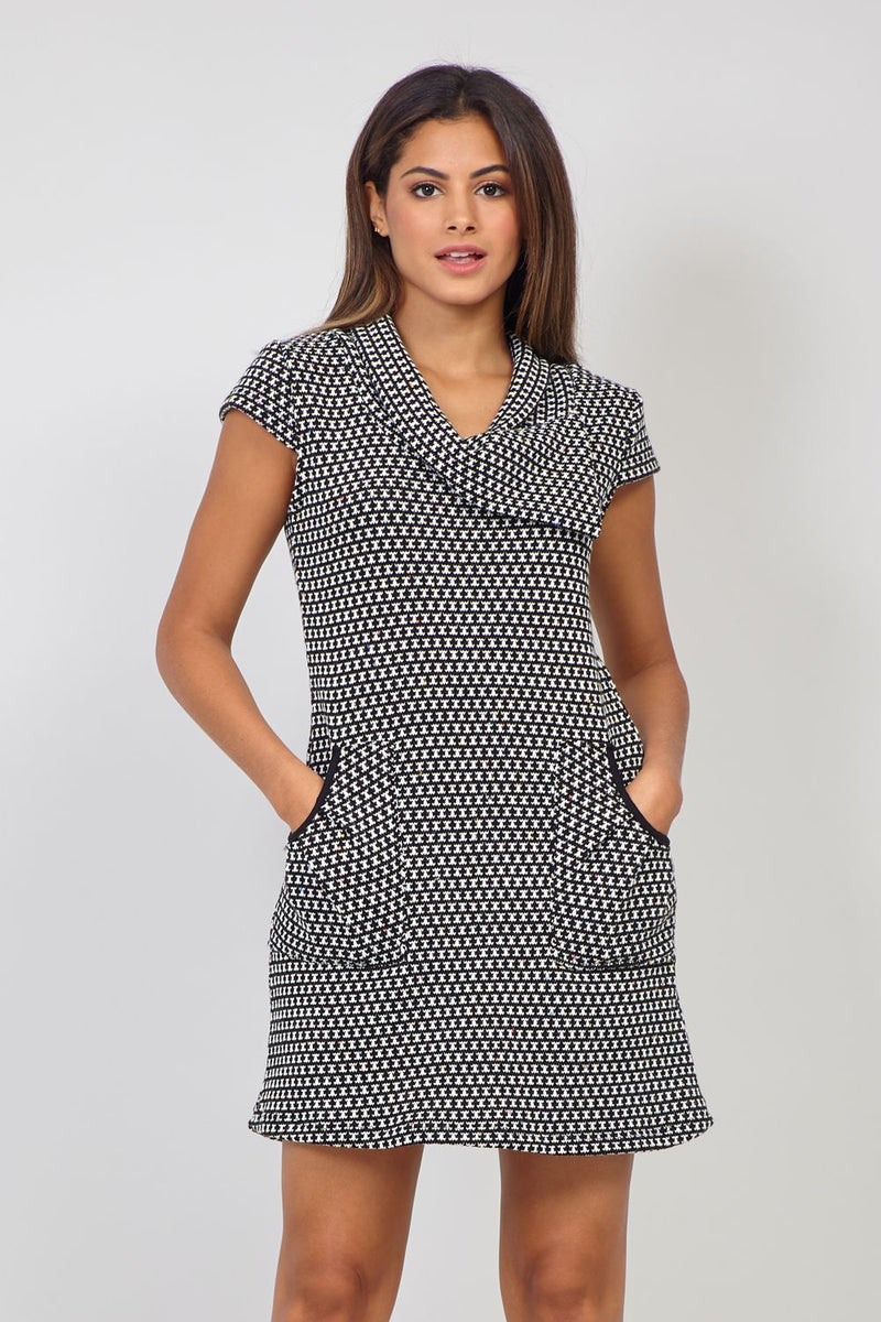 Navy | Geo Print Tunic Dress