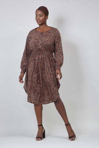 Curve Butterfly Print Lace Shift Dress