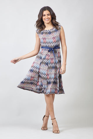 Curve Patchwork Knitted Dress