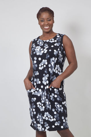Ditsy Floral A-Line Midi Dress