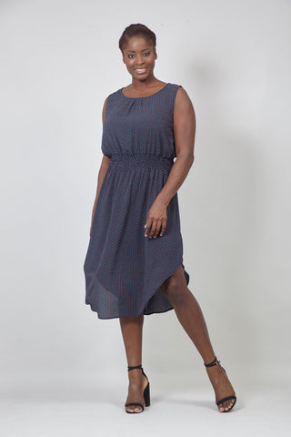 Pocket Front Smock Dress