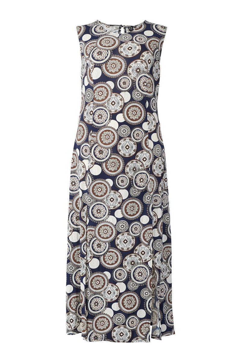 Curve Kaleidoscope Print Maxi Dress