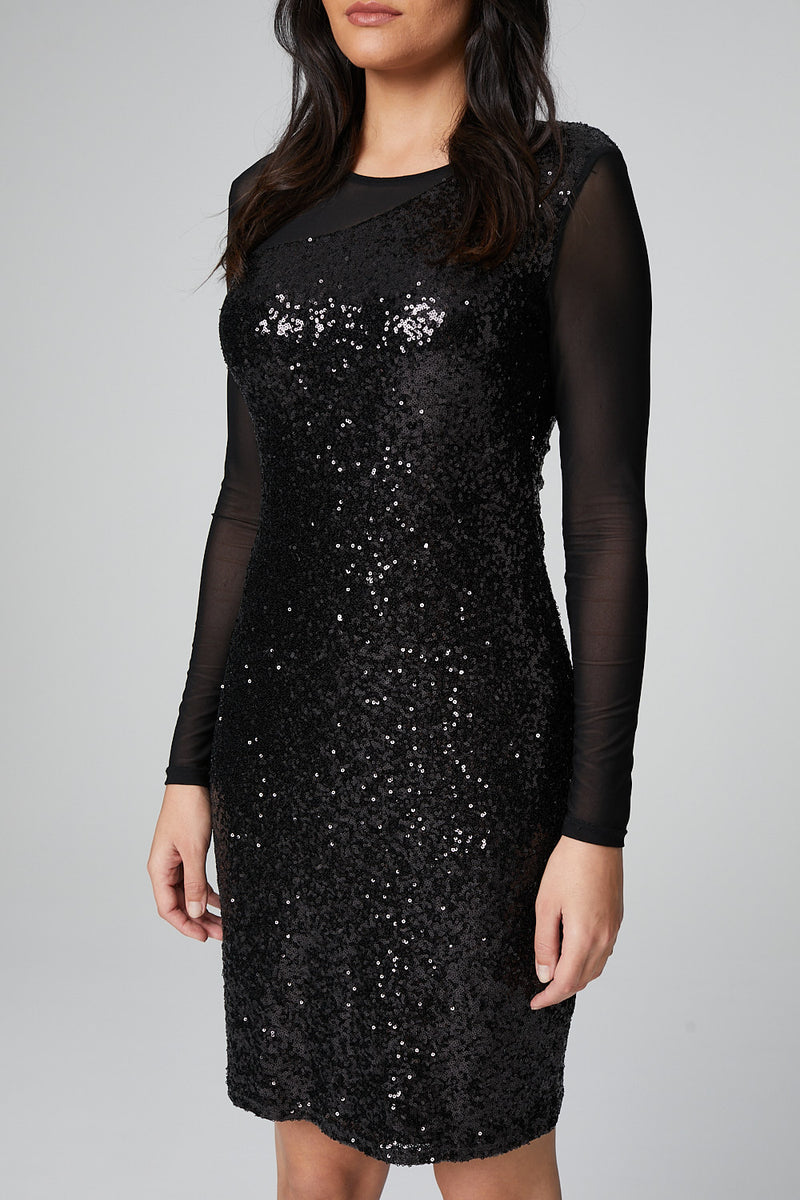 Black | Sequin Bodycon Cocktail Dress