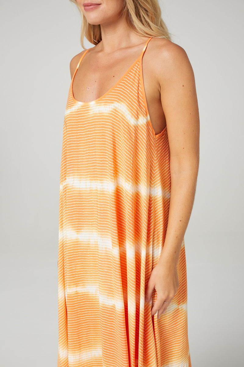 Tie Dye Sleeveless Sun Dress