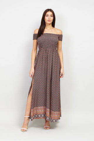 Curve Wrap Front Maxi Dress