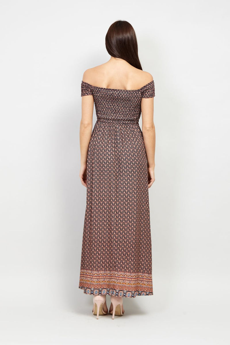 Off The Shoulder Maxi Dress - Izabel London