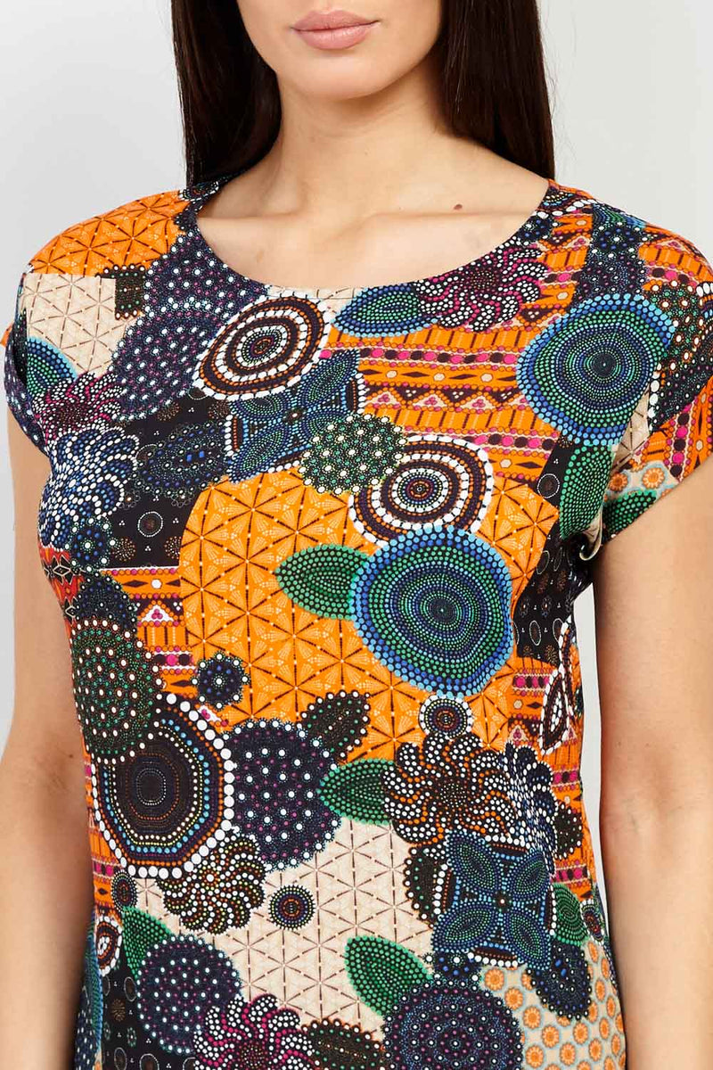 Mosaic Print Shift Dress - Izabel London