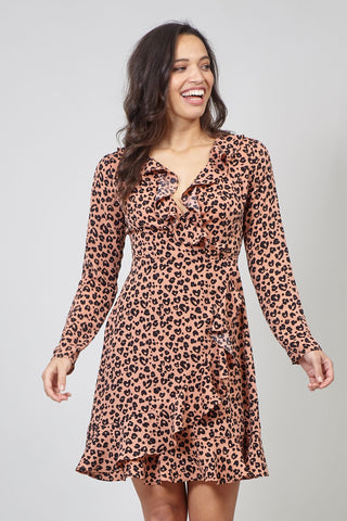 Peacock Print Shift Dress