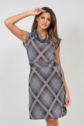 Tribal Print Shift Dress