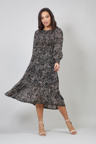 Geo Print Hanky Hem Dress