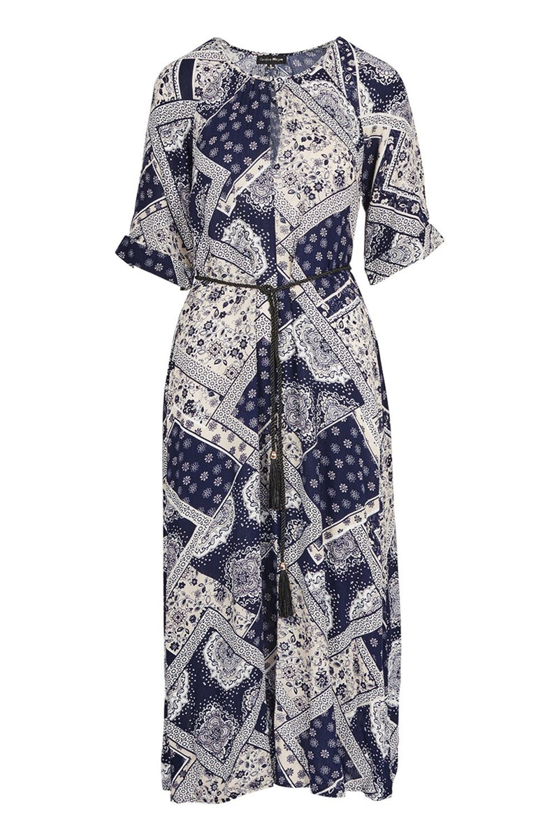 Navy | Patchwork Maxi Dress