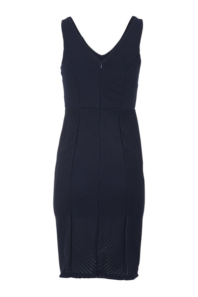 V-Front Panelled Dress - Izabel London