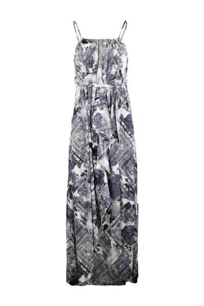 Ruffle Split Front Maxi Dress - Izabel London