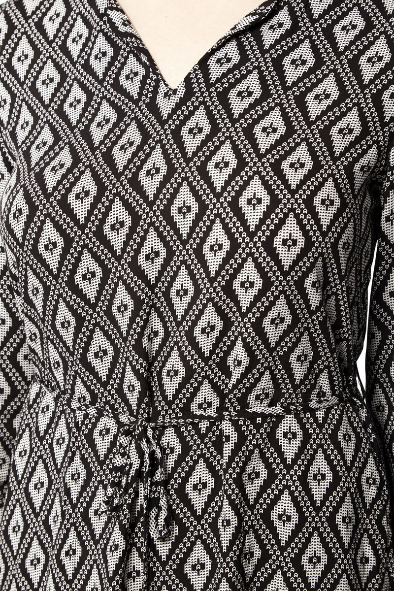 Black And White | Geo Print Tunic Dress