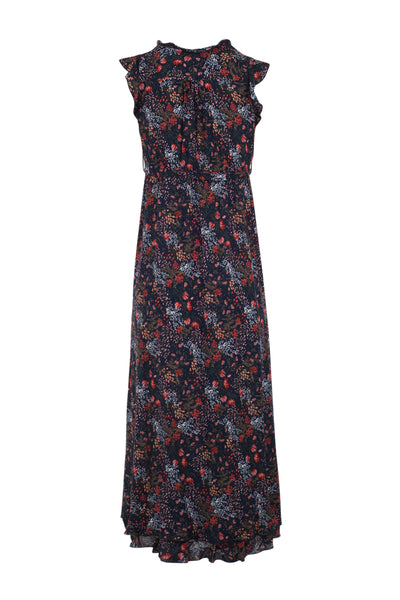 Ruffle Neck Maxi Dress - Izabel London