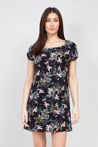 Floral Angel Sleeve Dress