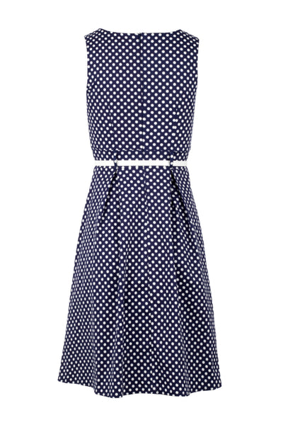 Polka Dot Fit & Flare Dress - Izabel London