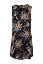 Cut-Out Neck Shift Dress - Izabel London