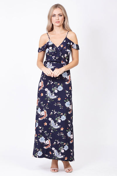 Cold Shoulder Maxi Dress - Izabel London