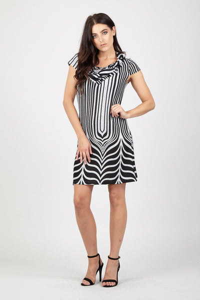 Abstract Tunic Dress - Izabel London