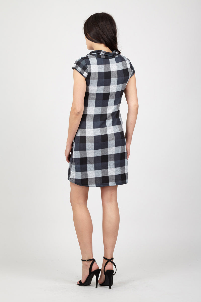 Grey | Checked Tunic Dress
