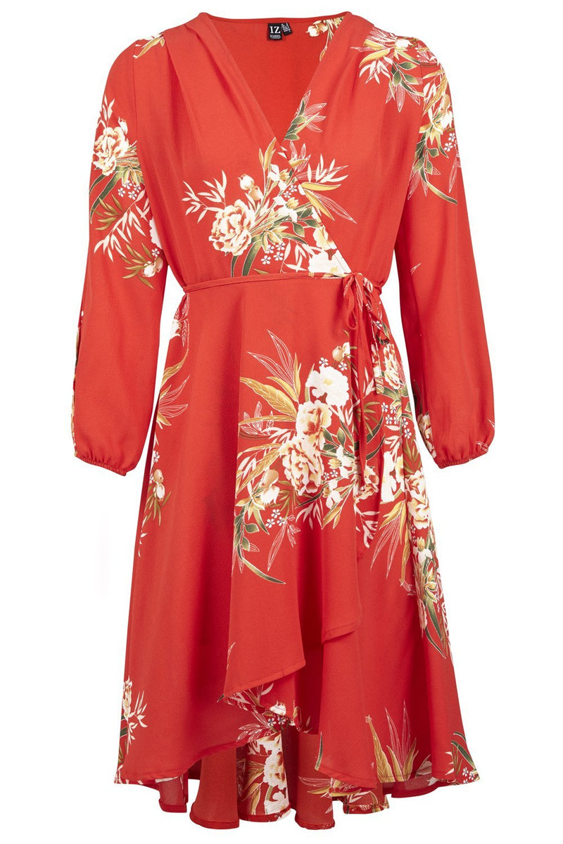 Floral Wrap Dress - Izabel London