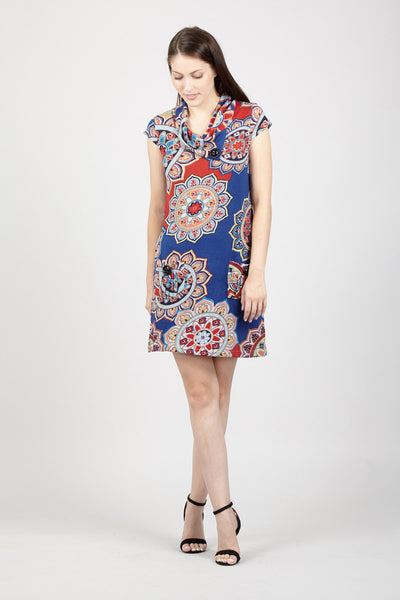 Eastern Print Tunic Dress - Izabel London