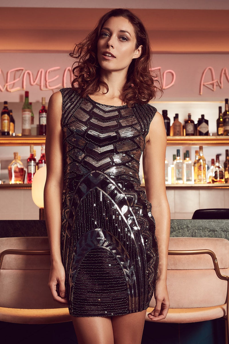 Sequin Bodycon Dress - Izabel London
