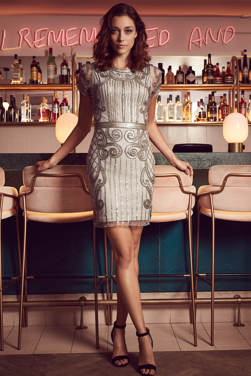 Baroque Sequin Dress - Izabel London